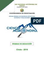 Normas de redacción de Universidad Nacional Autónoma de Chota