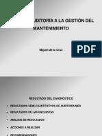 Informe auditoria a la gestion de mantenimiento