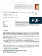 Unintended effects of IFRS adoption on earnings management