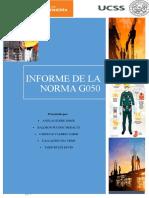 Informe - Norma g050