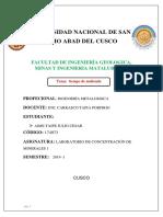 Cinetica de Molienda Concentracion de minerales 1  unsaac