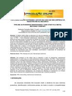Tpm - Estudo de Caso Em Uma Indústria Metal-mecânica -Pb