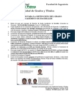Requisitos Para Grado de Bachiller Facultad de Ingenieria