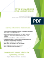 The Role of the Specialist Nurse in Paediatric Cataract Surgery