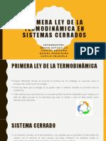 Primera Ley de La Termodinámica en Sistemas Cerrados