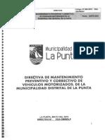 directiva DE CONTROL DE VEHICULOS
