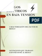 Riesgos eléctricos en baja tensión