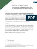 Artigo - Planejamento Estratégico Em Pequenas Empresas