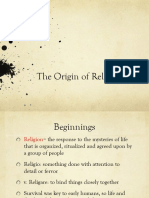The Origin of Religion Ppt
