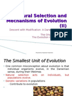 Natural Selection and Mechanisms of Evolution (II)