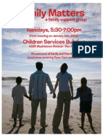 Family Matters Flyer