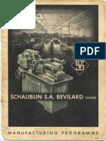 Schaublin General Catalogue 1946