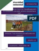 Informe n04 Compactación de Proctor Mtc 115 2000