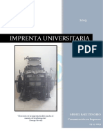 Imprenta Universitaria crónica