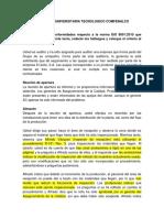 Caso ISO 9001:2015 identificación de hallazgos.