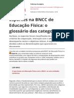 Esportes Na BNCC