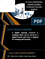 ICT and Conventional Learning Material