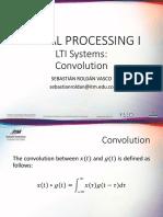 Session 8 - LTI Systems (III) - Convolution