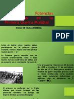 Principales Potencias Involucradas en La Primera Guerra Mundial