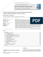 Current Status and Analysis of Renewable Promotiona 2011 Renewable and Susta