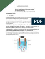 Electrolisis de Los Metales (Cobre)
