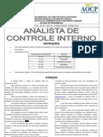 Analista Controle Interno Cabo Novo