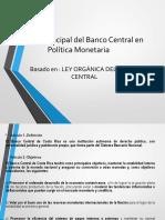 Función Principal Del Banco Central en Política Monetaria