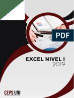 Manual Excel Nivel 1 - 2019
