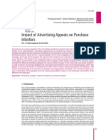 Impact of Advertising Appeals on Purchase Intentio