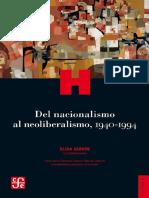 2018_Elisa_Servin-Del Nacionalismo Al Neoliberali