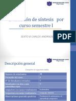 Carlos Andrade Evaluación de Síntesis Por Curso Semestre I Segundo Ciclo