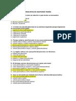 Cuestionario Anatomia I PDF