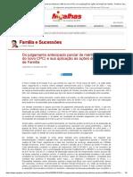Do julgamento antecipado parcial de mérito (art. 356 do novo CPC) e sua aplicação às ações de Direito de Família - Família e Sucessões