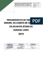 01.Procedimiento de Trabajo Cuarto de Tableros de Sodimac 3.10.19