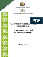 Plan de Gestión Territorial Comunitario Autonomía Guaraní Charagua Iyambae