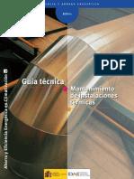 Guía Técnica Mantenimiento de instalaciones térmicas