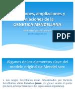 Excepciones, Ampliaciones y Variaciones de La GENETICA MENDELIANA