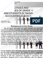Challenges and Difficulties of Grade 11 Students in Taking Accounting Subject