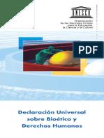 Bioética y Dd.hh. Unesco