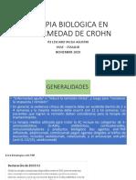 Terapia Biologica en Enfermedad de Crohn