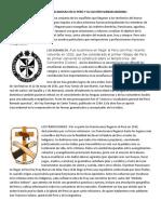 ORDENES RELIGIOSAS QUE EVANGELIZARON EN EL PERU