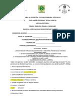 Examen Primer Mes Historia II Primer Trimestre Con Respuestas Serie b