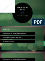 17. Koordinasi Ke-17, Perubahan Tim Akred, Persiapan Presentasi Snars Ed 1.1 (11!11!2019)