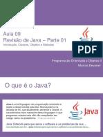 Aula 09 - Revisão de Java - Parte 1(Introdução, Classes, Objetos e Mé…