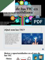 El Uso de Las TIC en La Vida