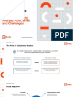 Lesson 2 - The RPA Business Analyst - Role, Skills and Challenges