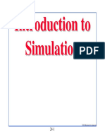 Simulation in statical method of mechanical engineering