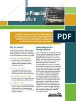 Land Use Planning for Agriculture