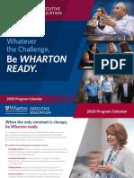 Wharton Program Calendar 2020