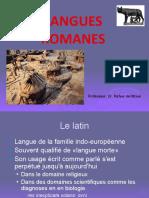 LES LANGUES ROMANES